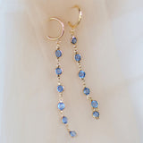 Damsel | blue crystal earrings