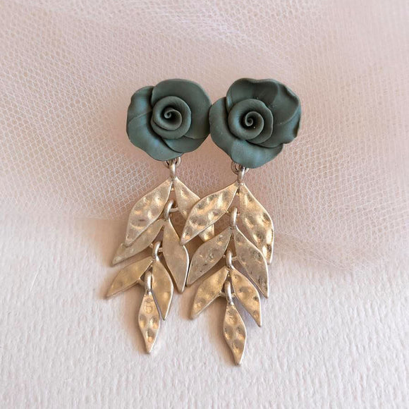 Fig+Fern | green leaf earrings