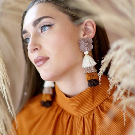 Flower Child | tassel earrings