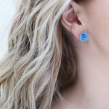 DOLCE VITA stud earrings | Blue | 18K gold posts
