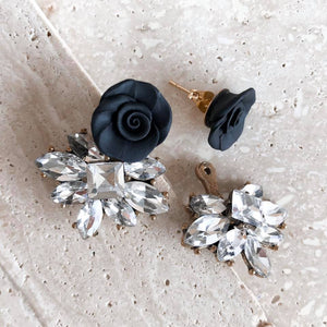 Dolce Vita | Black TWO-IN-ONE stud earrings | 18K gold