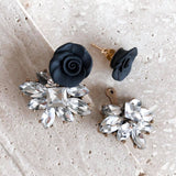 Dolce Vita | Black or white | TWO-IN-ONE stud earrings | 18K gold