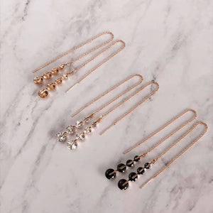 Bijoux | Rose gold | Threader earrings