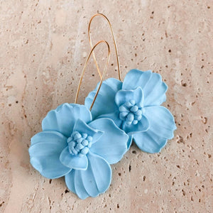 The Pincushion Earrings | Bali blue | 18K Gold