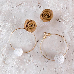 Essential Oil Hoop Earrings | two-in-one