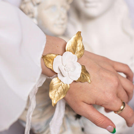 Poema | Silk, Brass & Clay Bracelet