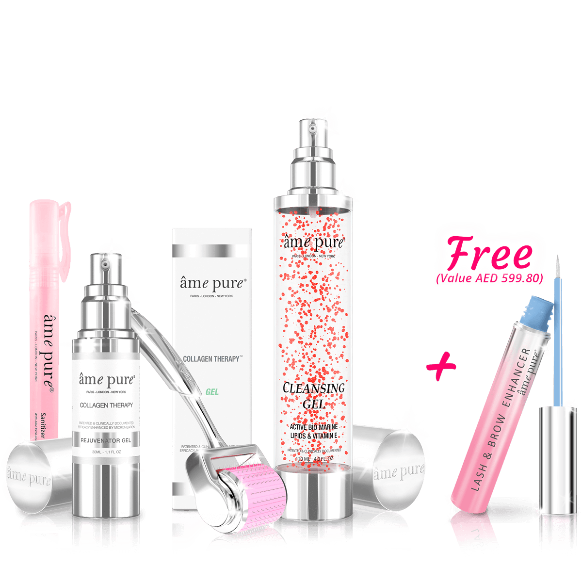 CIT Face Roller BASIC KIT + Cleansing Gel + FREE Lash Boost™