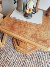 Load image into Gallery viewer, Maple Burlwood Pedestal Tables
