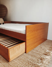 Load image into Gallery viewer, Danish Teak Twin Trundle Bed