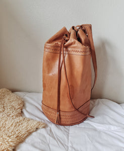 XL Vintage Mexican Leather Backpack