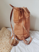 Load image into Gallery viewer, XL Vintage Mexican Leather Backpack