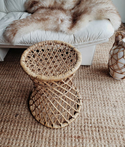Vintage Wicker Plant Stand
