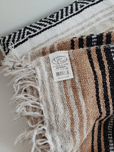 Load image into Gallery viewer, Neutral Mexican Falsa Blanket