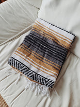 Load image into Gallery viewer, Mustard Mexican Falsa Blanket