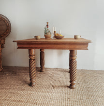 Load image into Gallery viewer, Antique Oak Barley Twist Dining Table