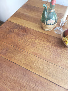 Antique Oak Barley Twist Dining Table