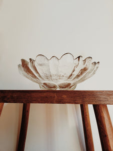 Vintage Abstract Glass Bowl