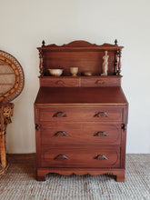 Load image into Gallery viewer, Antique Mahogany Desk & Dresser Combo