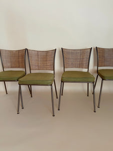 'Daystrom' Vintage Cane Chairs- Set of 4