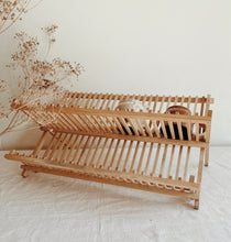 Load image into Gallery viewer, Vintage Wooden Dish Rack