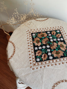 Vintage Mexican Embroidered Tablecloth