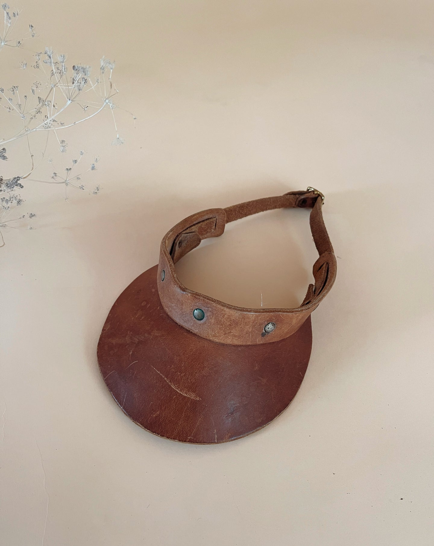 Vintage Leather Visor