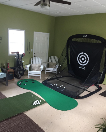 golf hitting net and mat