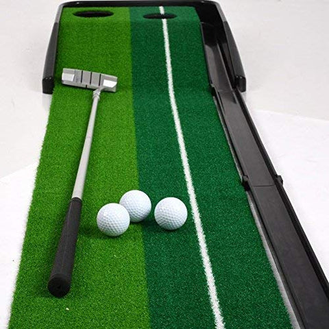 Dual-Speed Putting Green with Auto Ball Return