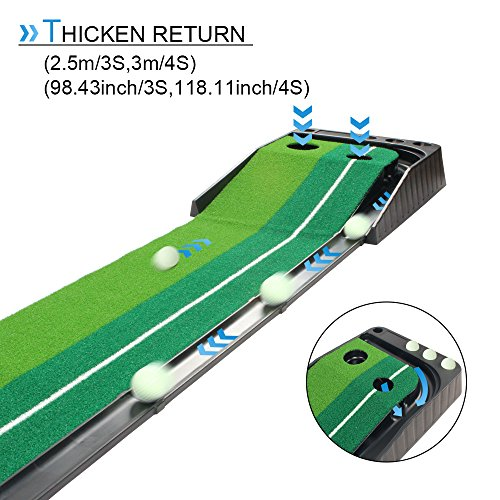 Dual-Speed Putting Green with Auto Ball Return - THE GOLFER'S PICK