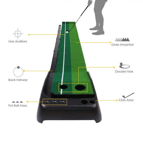 Image of Dual-Speed Putting Green with Auto Ball Return - THE GOLFER'S PICK