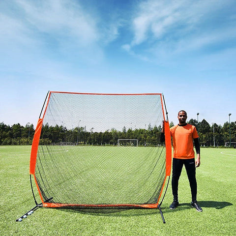 7x7 ft Portable Golf Net Driving Net and Mat Bundle Indoor/Outdoor - TheGolfersPick