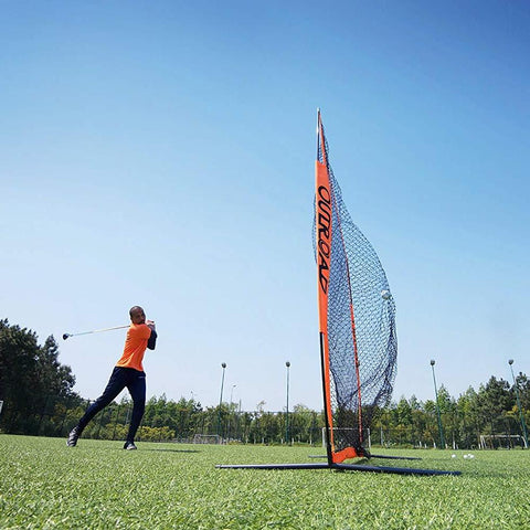 7x7 ft Portable Golf Practice Driving Net Training 3pc Bundle with 3x5 ft Premium Hitting Mat for Outdoor/Indoor/Backyard - THE GOLFER'S PICK