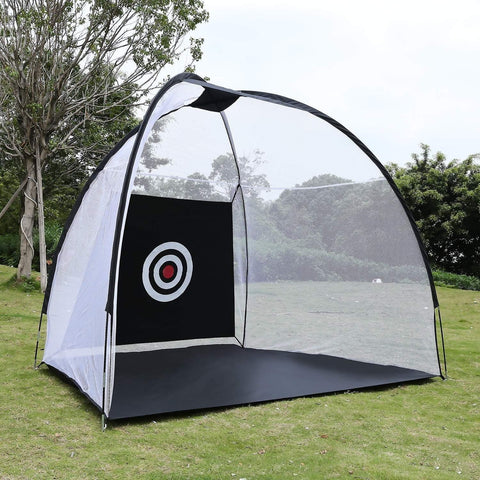 10x7 ft Giant Golf Net 3pc Bundle with Tri-Turf Hitting Mat - TheGolfersPick