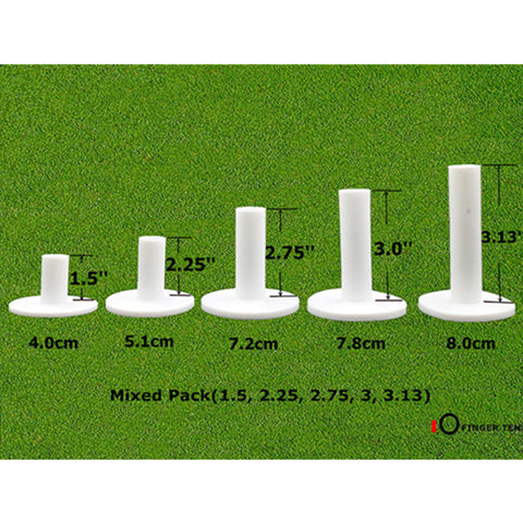 Rubber Golf Tees for Practice & Driving Range Mats | 5pcs Package with Different Sizes