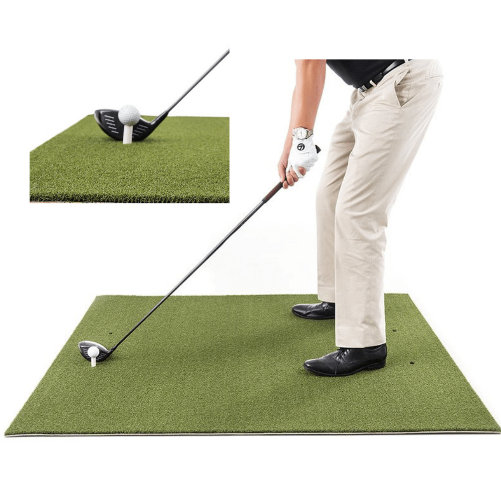 7x7 ft Golf Net and Mat Premium Bundle for Outdoor/Indoor/Backyard