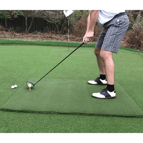 TeeLuxe Premier Luxury Golf Hitting Mat 5'x5'