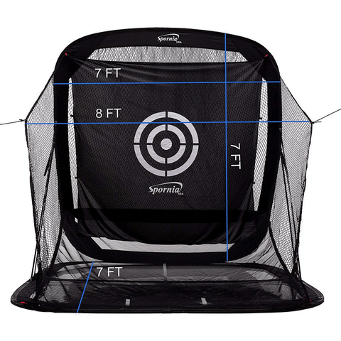 Golf Practice Driving Net Automatic Ball Return | Net & Mat Bundle | Outdoor/Indoor/Backyard - TheGolfersPick