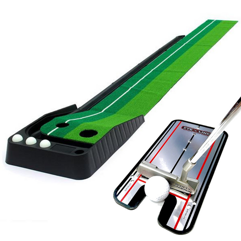 Golf Putting Green Practice Set with Putting Alignment Mirror