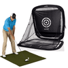 Image of Golf Practice Driving Net Automatic Ball Return | Net & Mat Bundle | Outdoor/Indoor/Backyard