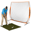 Image of 7x7 ft Golf Net and Mat Premium Bundle for Outdoor/Indoor/Backyard - TheGolfersPick