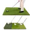 Image of Golf Hitting Practice Mats 2in1 Premium Set | 3'x5' Golf Mat + 1.5'x2.5' Tri-Turf Mat - TheGolfersPick