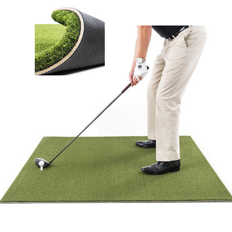 Golf Practice Driving Net Automatic Ball Return | Net & Mat Bundle | Outdoor/Indoor/Backyard
