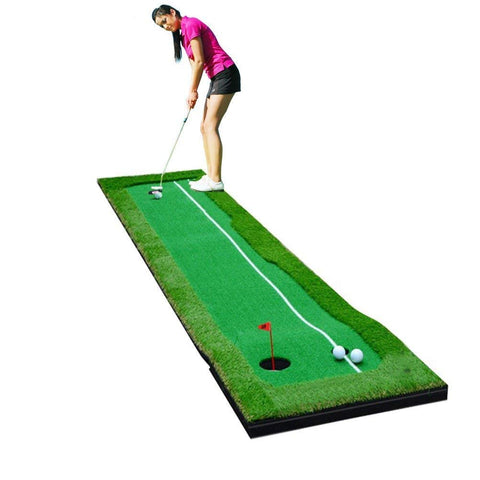 Golf Indoor Putting Green System Pro Package 1.6'x10' - TheGolfersPick