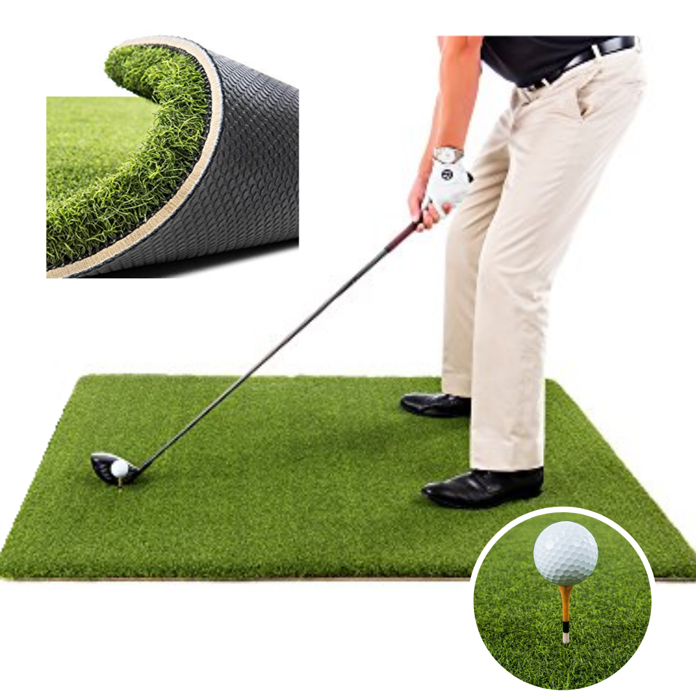 TeeLuxe Champ Luxury Golf Hitting Mat 4'x5' - TheGolfersPick