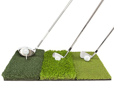 Golf Hitting Practice Mats 2pc Premium Bundle | Fairway + Tri-Turf Mat