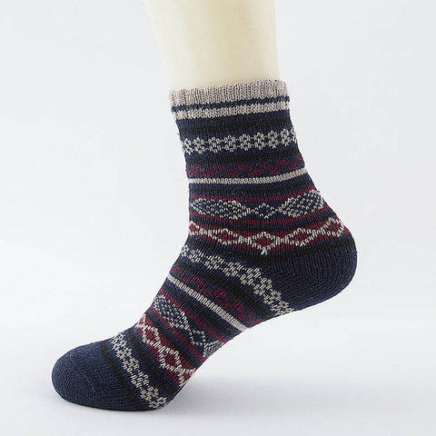 LNRRABC Winter Thick Warm Stripe Wool Socks Casual Calcetines Hombre Sock Business Male Socks