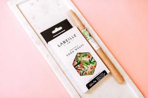 girly beeswax wraps by labeille co and reusable rose gold straw set