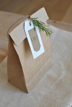 eco friendly wrapping. brown paper bag by Labeille co. beeswax wraps
