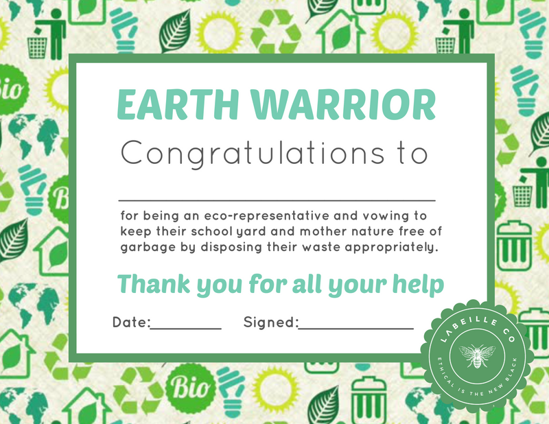 Earth Warrior Certificate (downloadable png)