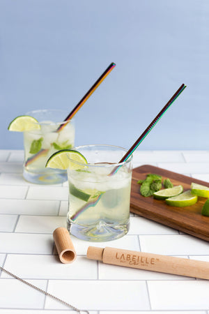 SINGLE REUSABLE METAL STRAWS